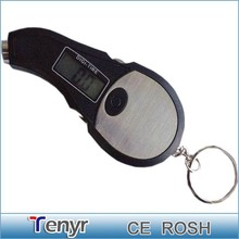 bicycle mini digital tire guage with keychain & screwdriver