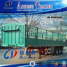 35-40 tons 3 axles china hot selling feacy | store house bar type animal transport semi trailer trucks for sale