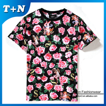 oversized man polo fashion dye sublimation t-shirt printing