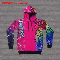 Fantasy sweat suit custom hooded varsity jacket