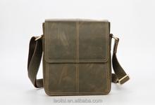 Vintage Genuine Crazy Horse leather shoulder bag