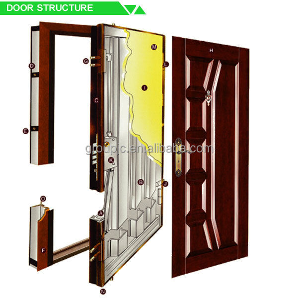 Steel wooden made iron grill window door designs model no for Different door designs