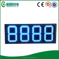 12.5 inch 8.888 format led price sign led gas price screen