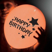 happy birthday LED balloon for party,heart shap led balloon supply