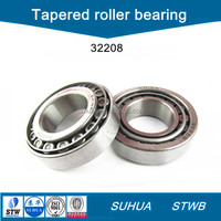 Carbon steel single row tapered roller bearing 32208