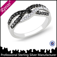 shiny male party black enamel ring high italian jewelry
