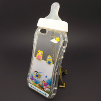UV Print New Polular Cute Milk Bottle Baby Nipple Liquid PC Mobile Phone Cover Case for iPhone 5/6/6 Plus
