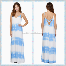 2015 One size fits all summer dresses tie dye maxi dress LCM583