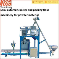 Semi automatic mixer and packing flour machinery for powder material