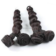 2015 Hot Sale Brazilian Virgin Hair Natural Color Loose Wave Human Hair Weft