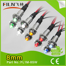 FL1M-8SW human albumin HSA inj best sell waterproof metal 8mm green led indicator 24with wire