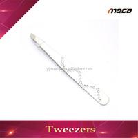 OEM manufacture eyebrow tweezer with diamond