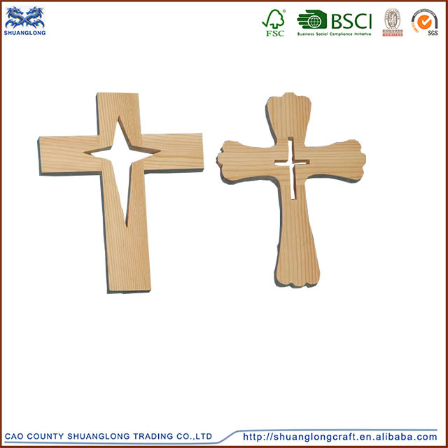 Factory price wholesale decorative crosses hand carved for Wooden craft crosses wholesale