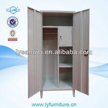modern 2 door steel locker with safe inside