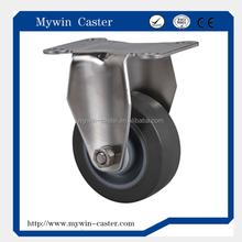 4 inch fixed medium duty grey PU industrial casters
