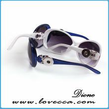 custom rhinestone round snap button sunglasses