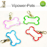 Wholesale Bone-Shaped Dog ID Tag Fashion Pet Name Tag Metal Dog Tag Pendant Free Shipping