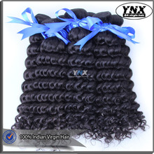 Tight weft weaving bundles spiral curl human hair for girls, machine made deep curly Indian human weave accept custom orders