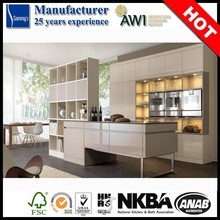 MDF Lacquer Kitchen Cabinet 2015 China Hot Sale Prefab Kitchen Cabinet
