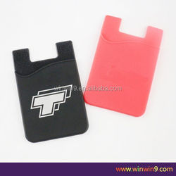 Silicone Phone Pouch, silicone smart wallet, fashional business gift cell phone case card holder