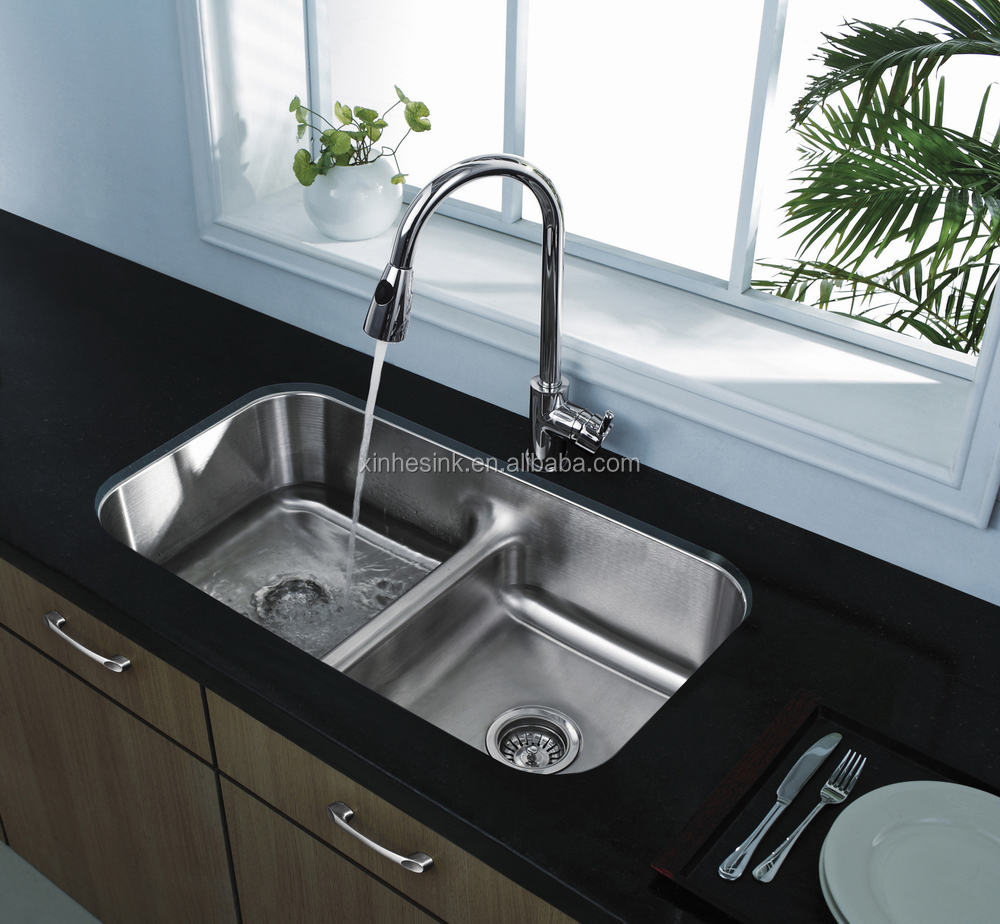Kitchen Sink With Double Bowl - Buy Stainless Steel Undermount Kitchen ...