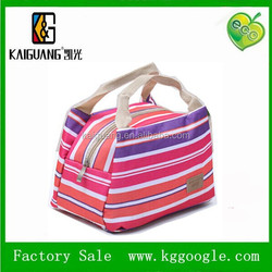 Polyester Insulated Lunch Bag for Food , Waterproof Cooler Bag with Aluminum