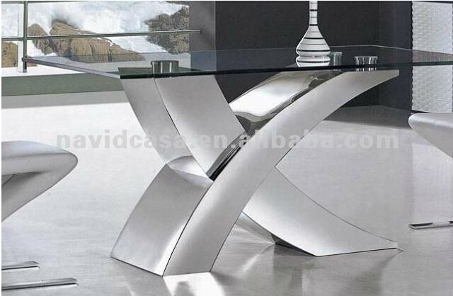 X01 fotos de acero inoxidable moderna mesa de comedor con sillas ...
