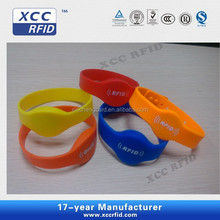 Manufacturer ISO15693 I CODE Waterproof RFID Silicone Wristbands