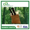 [Bamboo King] FDA passed Bamboo kitchen knife & fork holder 5 insert