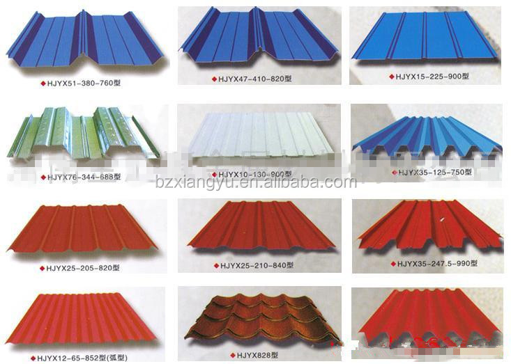 Prepaint galvanized steel fence panels corrugated metal for Types of roofing materials and cost