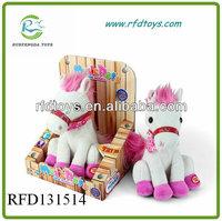 RFD131514 Plush Horse with music, Plush shake head Horse Toy, Horse Plush Toy