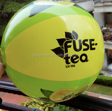 PVC inflatable green & yellow beach ball,EN71,6P,customized LOGO,factory sale