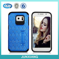 2015 factory wholesale hybrid hard soft combo cover case for Samsung S6