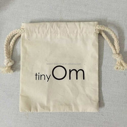 2015 small cotton muslin gift pouches for promotion