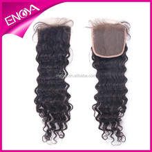 """2015 Hot selling Remy Peruvian Virgin Hair Lace Front Closure With Baby Hair 4""""x4""""Closure"""