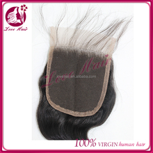 Unprocessed Brazilian Hair Piece Remy top Lace Front Closure With Baby Hair