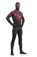 Black Spiderman costume adult Halloween costumes for men Spandex carnival cosplay BodySuit zentai Spider man