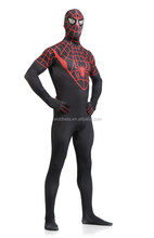Black Spiderman costume adult Halloween costumes for men Spandex carnival cosplay BodySuit zentai Spider man