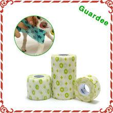 5 cm x 4.5 m bandagem cão protetor ligaduras elásticas bandagem auto-adesivo envoltório