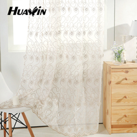 2016 Newest Design Traditional Embroidery Curtains Floral Pattern Wholesale