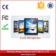 A super-slim ad. led light box for indoor photo frame or outdoor advertising frame