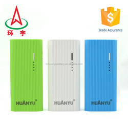 2015 hot sale fashion design rechargeable li-ion battery power bank 10000mah for mobile phone