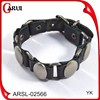 bijouterie charm leather band bracelets leather bracelet with skull