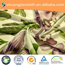 paper printing fabric/tricot velvet for garments/home textile/sofa
