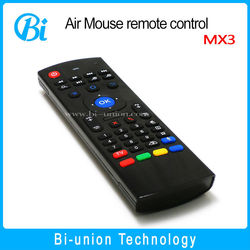 hot selling 2.4Ghz Wireless MX3A for Laptop / Tablet / TV Box / Mini PC / TV 2.4g mini fly air gyro mouse wireless keyboard MX3A