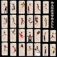 Hot sale NBA Basketball Player transparent TPU clear printed phone case for iphone 6 /6plus/5s