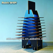 W-009 MDF display shelf for laminate flooring Shelf for Floor Retail Store Wooden Display Stand