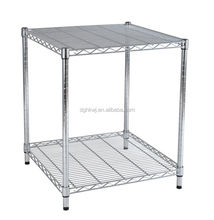 "14"" Depth Metal organization at home with 2 adjustable shelves"