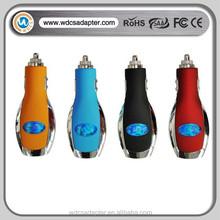 alibaba wholesale Car Logo charger blue red black orange car charger