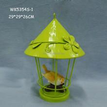 Fashion design resin bird cheap stainless decorative lanterns